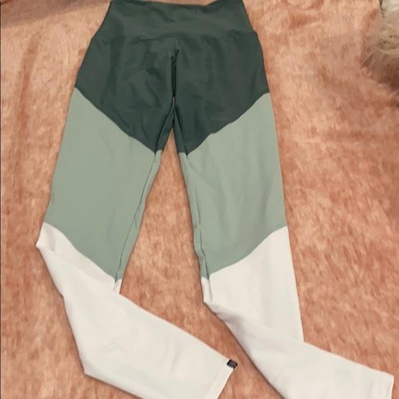 onzie high rise color block leggings full length